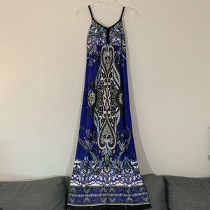 En Focus Studio Boho Print Maxi Dress size 8
